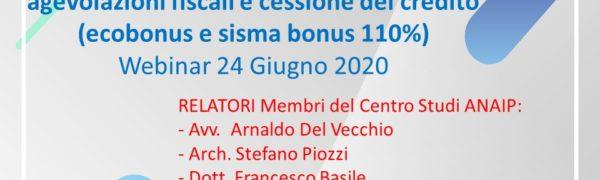 Webinar – Contratto Di Appalto Per Le Nuove Agevolazioni Fiscali E Cessione Del Credito 110%