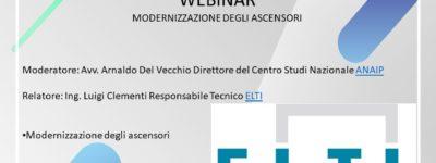 Webinar – Modernizzazione Degli Ascensori